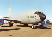 59-1444 @ EGVA - KC-135R Stratotanker Spirit of Rickenbacker of the 166th Air Refueling Squadron/121st Air Refuelling Wing of the Ohio ANG on display at the 1995 Intnl Air Tattoo at RAF Fairford. - by Peter Nicholson