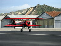 N59031 @ SZP - 1941 Boeing Stearman A75N1, Continental W670 220 Hp, landing roll Rwy 22 - by Doug Robertson