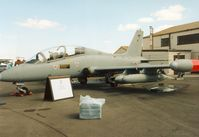 MM54496 @ EGVA - MB.339A, callsign India 4523, of 61 Stormo Italian Air Force on display at the 1995 Intnl Air Tattoo at RAF Fairford. - by Peter Nicholson