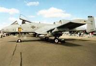 81-0962 @ EGVA - A-10A Thunderbolt, callsign Colt 01, of 81st Fighter Squadron/52nd Fighter Wing at Spangdahlem on display at the 1995 Intnl Air Tattoo at RAF Fairford. - by Peter Nicholson
