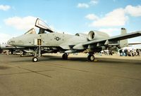 81-0984 @ EGVA - A-10A Thunderbolt, callsign Colt 02, of 81st Fighter Squadron/52nd Fighter Wing at Spangdahlem on display at the 1995 Intnl Air Tattoo at RAF Fairford. - by Peter Nicholson