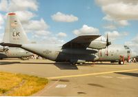 92-0550 @ EGVA - C-130H Hercules, callsign Akins 28, of 50th Airlift Squadron/314th Airlift Wing on display at the 1995 Intnl Air Tattoo at RAF Fairford. - by Peter Nicholson