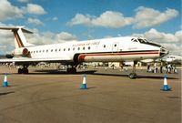 LZ D 050 @ EGVA - Tu-134A Crusty of the Bulgarian Air Force's 16th Transport Air Base on display at the 1995 Intnl Air Tattoo at RAF Fairford. - by Peter Nicholson