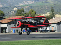 N59031 @ SZP - 1941 Boeing Stearman A75N1, Continental W670 220 Hp, takeoff Rwy 22 - by Doug Robertson