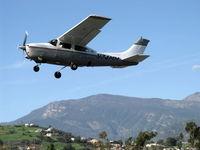 N74MM @ SZP - 1974 Cessna T210L TURBO CENTURION, Continental TSIO-520-R 310 Hp, takeoff climb Rwy 22 - by Doug Robertson