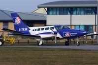 G-TASK @ EGNH - Ordanance Survey Cessna 404 parked at Blackpool