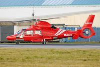 G-REDF @ EGNH - Eurocopter Dauphin II at Blackpool - by Terry Fletcher