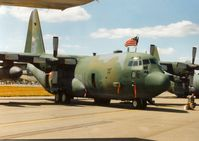 90-1798 @ EGVA - C-130H Hercules Spirit of Shelby, callsign Herc 01, of 164th Airlift Squadron/139th Tactical Airlift Group of the Ohio ANG on display at the 1995 Intnl Air Tattoo at RAF Fairford. - by Peter Nicholson
