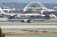 N191UW @ KLAX - US Airways A321-211, N191UW taxiway Hotel KLAX. - by Mark Kalfas