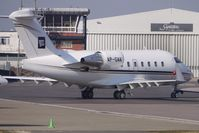 AP-GAK @ EGGW - Pakistan registered CL604 gets towed to parking at Luton - by Terry Fletcher