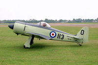 G-BLTG @ EGTC - WAR Hawker Sea Fury. A half scale replica of the famous Royal Navy aircraft, sadly destroyed in an accident at Crosland Moor in 1996. Seen here at the PFA Rally,Cranfield in 1994 - by Malcolm Clarke