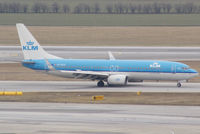 PH-BXM @ VIE - KLM - Royal Dutch Airlines Boeing 737-8K2(WL) - by Joker767