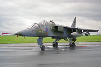XX829 @ EGXW - Sepecat Jaguar T2A. Flown by RAF No 6 Sqn based at Coltishall  at RAF Waddington's Photocall 94. - by Malcolm Clarke