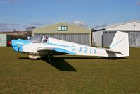 G-AZYY @ FISHBURN - Slingsby T-61A Falke at Fishburn Airfield in 2006. Catagorised by the CAA as a fixed wing self-launching motor glider! - by Malcolm Clarke