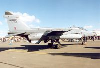 XX766 @ EGVA - Jaguar GR.1A, callsign Boxer 1, of 6 Squadron at RAF Coltishall on display in the static poark at the 1995 Intnl Air Tattoo at RAF Fairford. - by Peter Nicholson