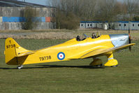 G-AKAT @ EGBR - Miles Hawk Trainer - One of the many aircraft at Breighton on a fine Spring morning
