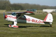 G-BULO @ EGBR - 1946 Luscombe Airplane Corporation LUSCOMBE 8F  -  One of the many aircraft at Breighton on a fine Spring morning