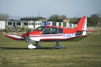 G-OACF @ EGBR - Robin DR400 /180 - One of the many aircraft at Breighton on a fine Spring morning