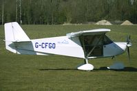 G-CFGO @ EGBR - One of the many aircraft at Breighton on a fine Spring morning