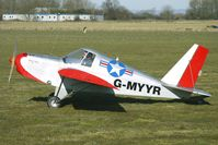 G-MYYR @ EGBR - 1996 Palmer P TEAM MINIMAX 91,  - One of the many aircraft at Breighton on a fine Spring morning