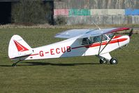 G-ECUB @ EGBR - 1958 Piper PIPER PA-18 - One of the many aircraft at Breighton on a fine Spring morning