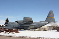 63-7861 @ CYS - C-130E c/n 3931 Wyoming ANG gate guard - by Duncan Kirk