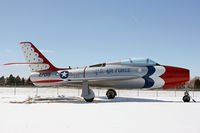 52-7019 @ CYS - F-84 gate guard in Thunderbirds colors - by Duncan Kirk