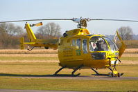 G-TVAM @ EGHO - Hampshire & Isle of Wight Air Ambulance - by Chris Hall