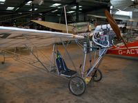 BAPC116 @ EGTH - Alberto Santos Dumont Demoiselle replica (aluminium tube not bamboo) at The Shuttleworth Collection - by Eric.Fishwick