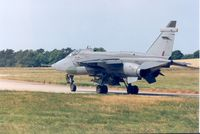 XZ108 @ EGQS - Jaguar GR.1A, callsign Wildcat 3, of 16[Reserve] Squadron taxying to the active runway at RAF Lossiemouth in the Summer of 1995. - by Peter Nicholson