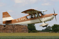 G-EXPL @ EG10 - Climbing away from Runway 11. - by MikeP