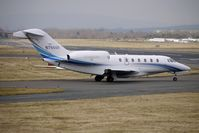 N750GF @ EGBJ - Based Cessna 750 taxies for departure