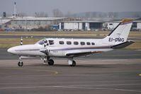 EI-DMG @ EGBJ - Cessna 441 brings in Racegoers at Gloucestershire (Staverton) Airport