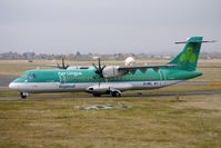 EI-REL @ EGBJ - Aer Arran ATR72 painted in Aer Lingus Regional colours bring in Horse race fans at Gloucestershire (Staverton) Airport