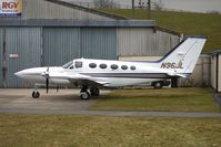 N96JL @ EGBJ - Cessna 421C parked at Gloucestershire (Staverton) Airport