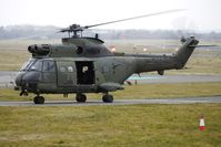 XW216 @ EGBJ - SA330 Puma taxies in for re-fuel at Gloucestershire (Staverton) Airport