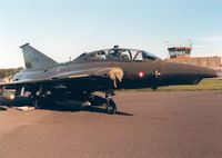 AT-155 @ EGQL - Sk-35XD Draken of Esk 729 Royal Danish Air Force in the static park at the 1988 RAF Leuchars Airshow. - by Peter Nicholson