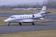 CS-DXU @ EGBJ - Netjets Citation XL taxies in  at Gloucestershire (Staverton) Airport