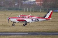 N500AV @ EGBJ - 1969 Piper PA-24-260 landing at Gloucestershire (Staverton) Airport
