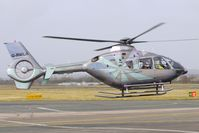 G-RWLA @ EGBJ - The jade version of the iridescent colour scheme on this EC135T2+ at Gloucestershire (Staverton) Airport