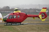 G-BZRS @ EGBJ - EC135T2 will callsign ' Pipeline 04' lands for re-fuelling at Gloucestershire (Staverton) Airport