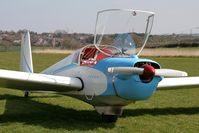 G-AZYY @ FISHBURN - Slingsby T-61A Falke at Fishburn Airfield in 2007. - by Malcolm Clarke