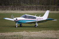 G-RACO @ EGCB - 1975 Piper PIPER PA-28R-200 prepares to depart from Barton