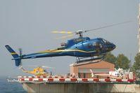 F-GTRK @ LNMC - at Monaco Heliport - by Elisabeth Klimesch