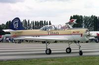 LY-ALT @ EGXG - Bacau Yak-52. In Titan Airways at RAF Church Fenton's SSAFA Air Display in 1994. - by Malcolm Clarke