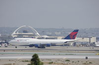 N666US @ KLAX - Delta Airlines 747-451 - by speedbrds