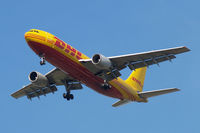 OO-DLG @ EGLL - Airbus A300B4-203F [208] (DHL) Home~G 16/08/2009. On approach 27R 3 miles out.