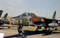 XX737 - Jaguar GR.1 of 54 Squadron on display at the 1977 Royal Review at RAF Finningley. - by Peter Nicholson
