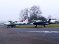 G-BFLU @ EGBG - main parking area at this former WWII airfield - by Chris Hall