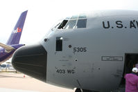 97-5305 @ KIAH - Nose of the C130. - by Darryl Roach